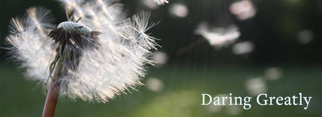 Daring Greatly | Dandelion blowing away