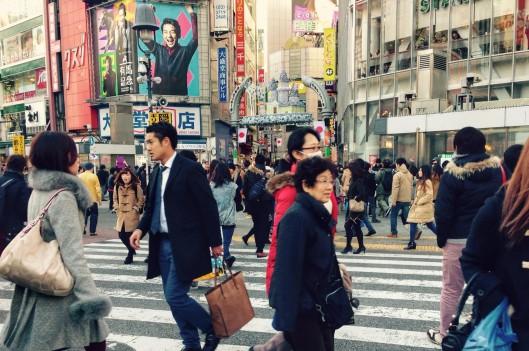 people on the crosswalk