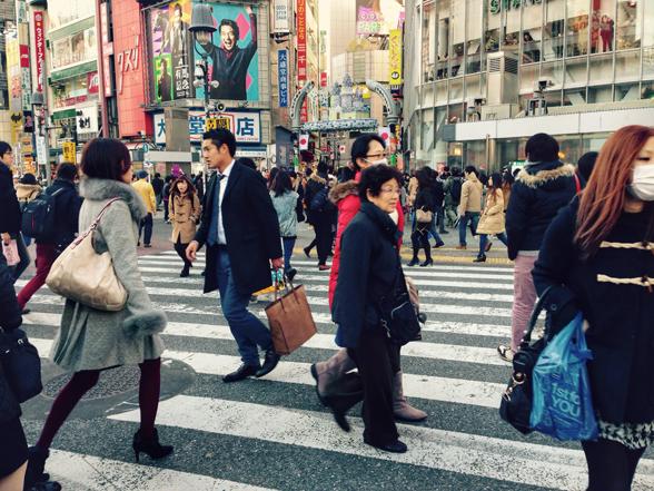 people on the cross walk