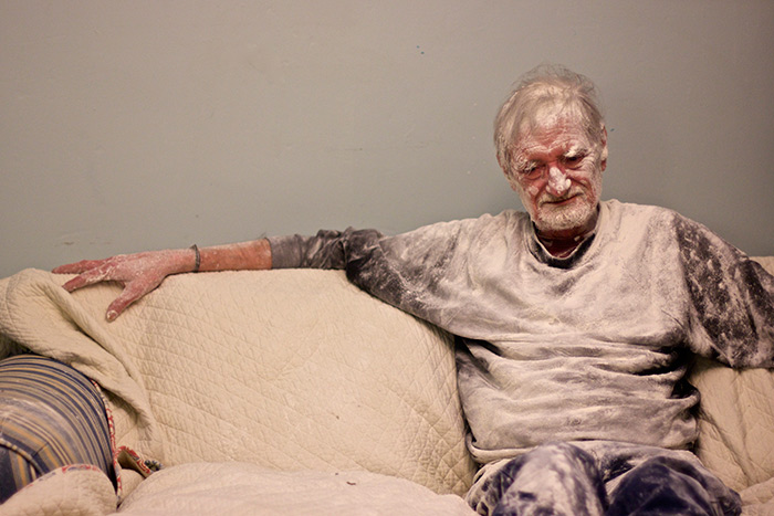 my father the introvert a photo essay man covered in flour on a couch my father the introvert
