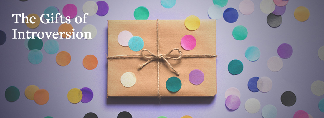 Gift with multi-colored polka dots   The Gifts of Introversion