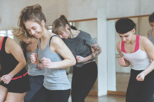 Women Training In Aerobics Class