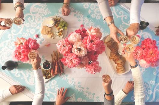 Group of friends having brunch