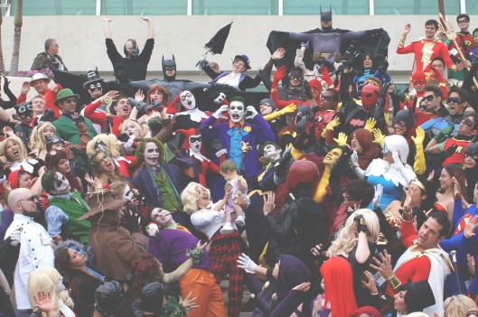 Heroes and villains at comic-con