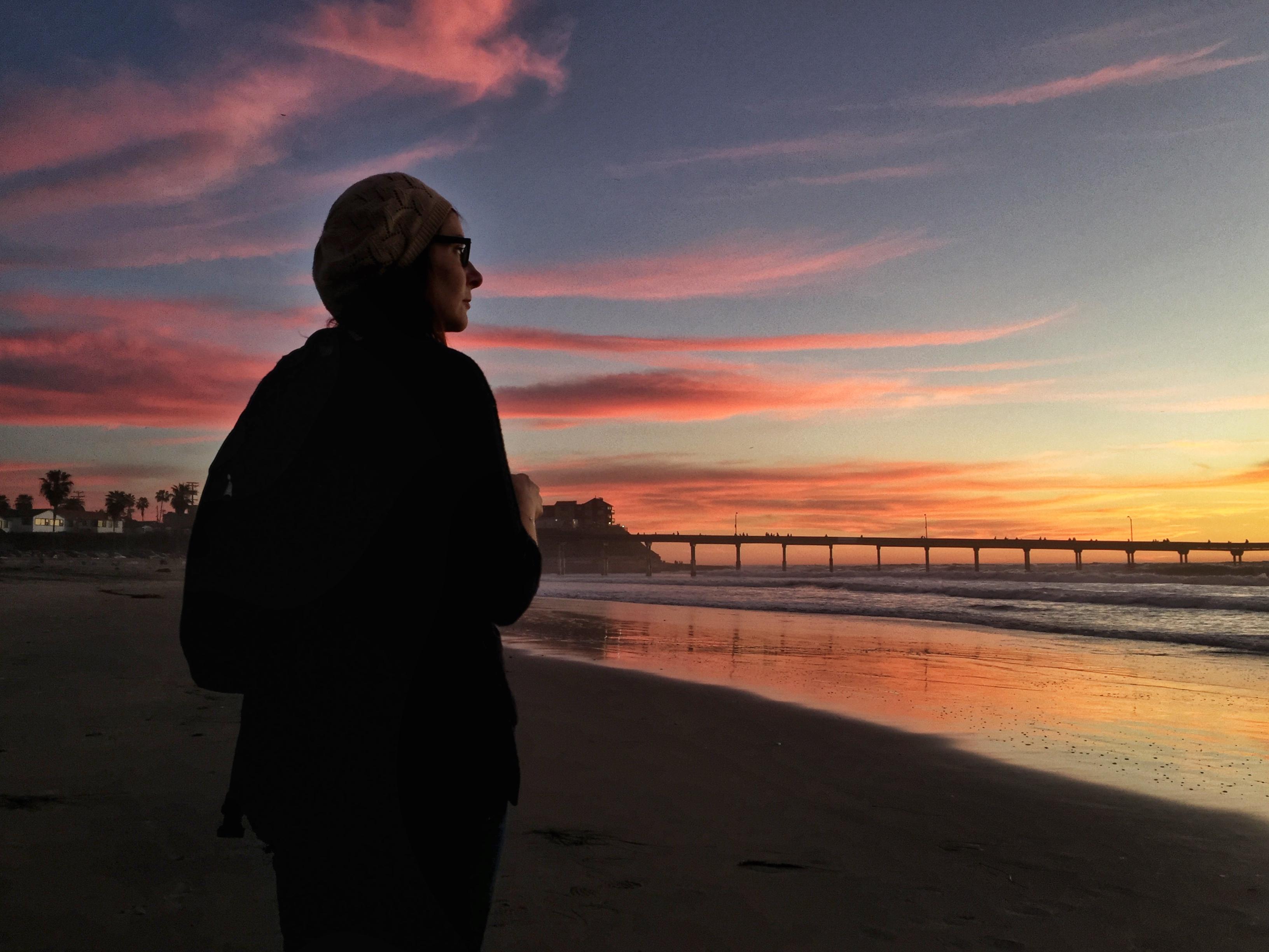 Sunset at the beach essay