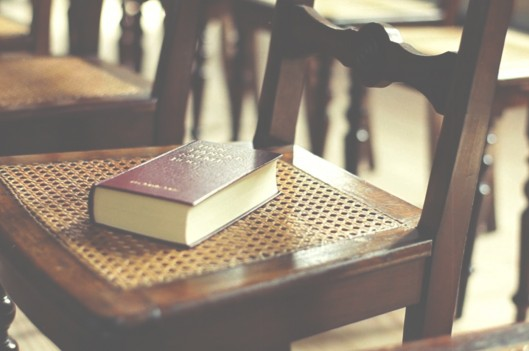Bible on a chair