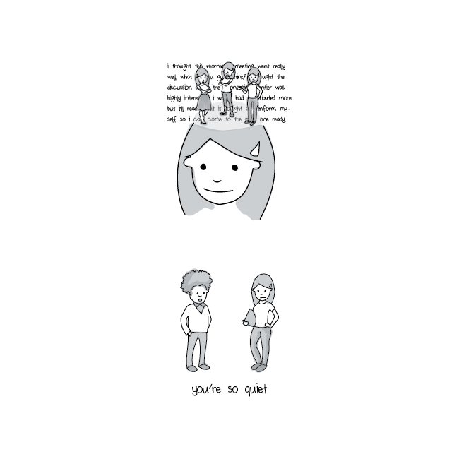 illustrations that show what it s like in an introvert s head illustration of introvert process