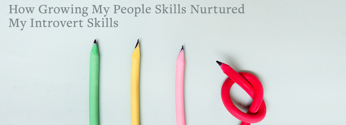 Three straight pencils and one bent | How Growing My People Skills Nurtured My Introvert Skills