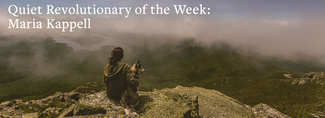 Woman with dog on mountain top | Quiet Revolutionary of the Week: Maria Kappell