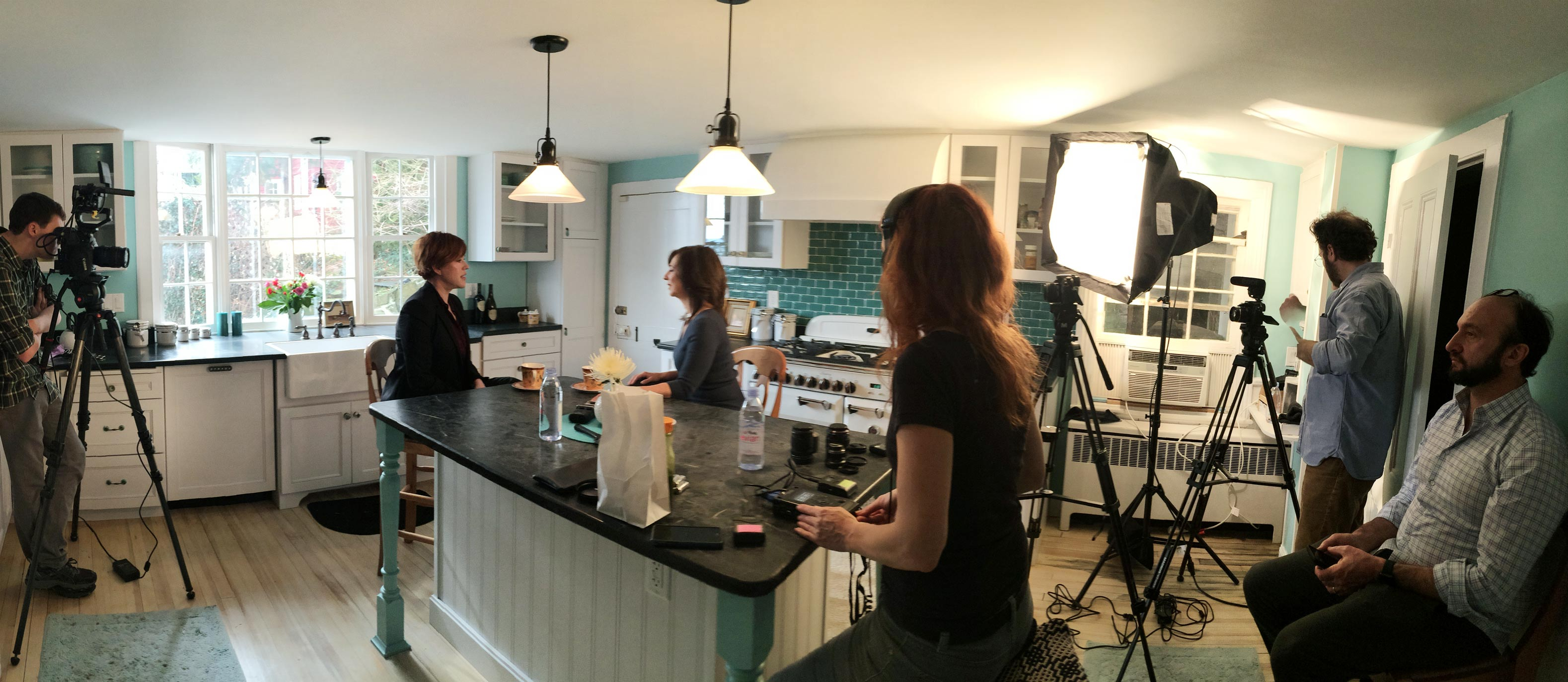 Quiet Revolution podcast Molly Ringwald taping scene | Samantha and Andie and Molly and Me