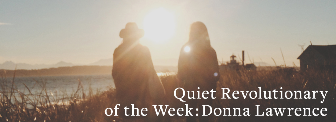 Two people sitting and talking | Quiet Revolutionary of the Week: Donna Lawrence