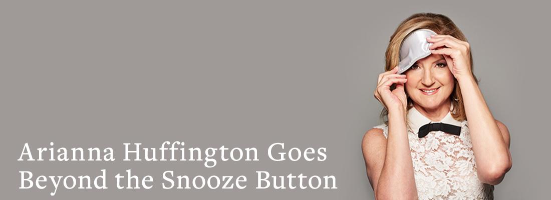 Arianna Huffington with sleep mask | Arianna Huffington Goes Beyond the Snooze Button