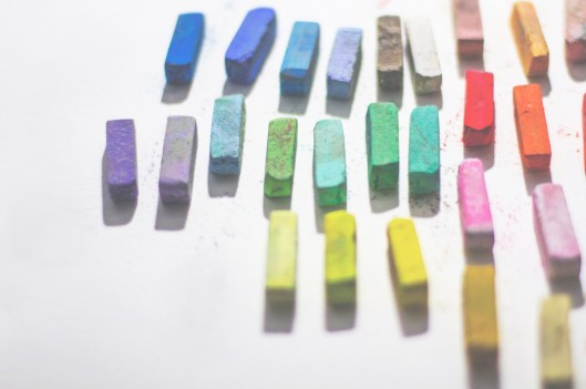 DIfferent colored pastels
