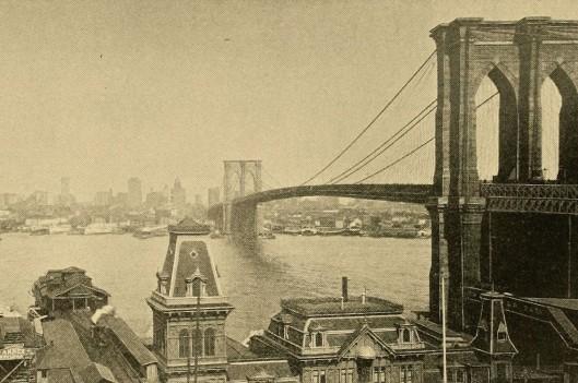 vintage photo of the brooklyn bridge