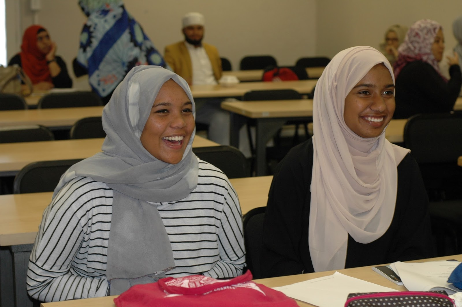 Yasmine Jacobs | two students laughing