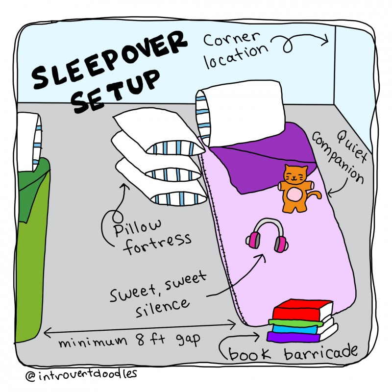 an illustrated guide to sleepovers for little introverts quiet
