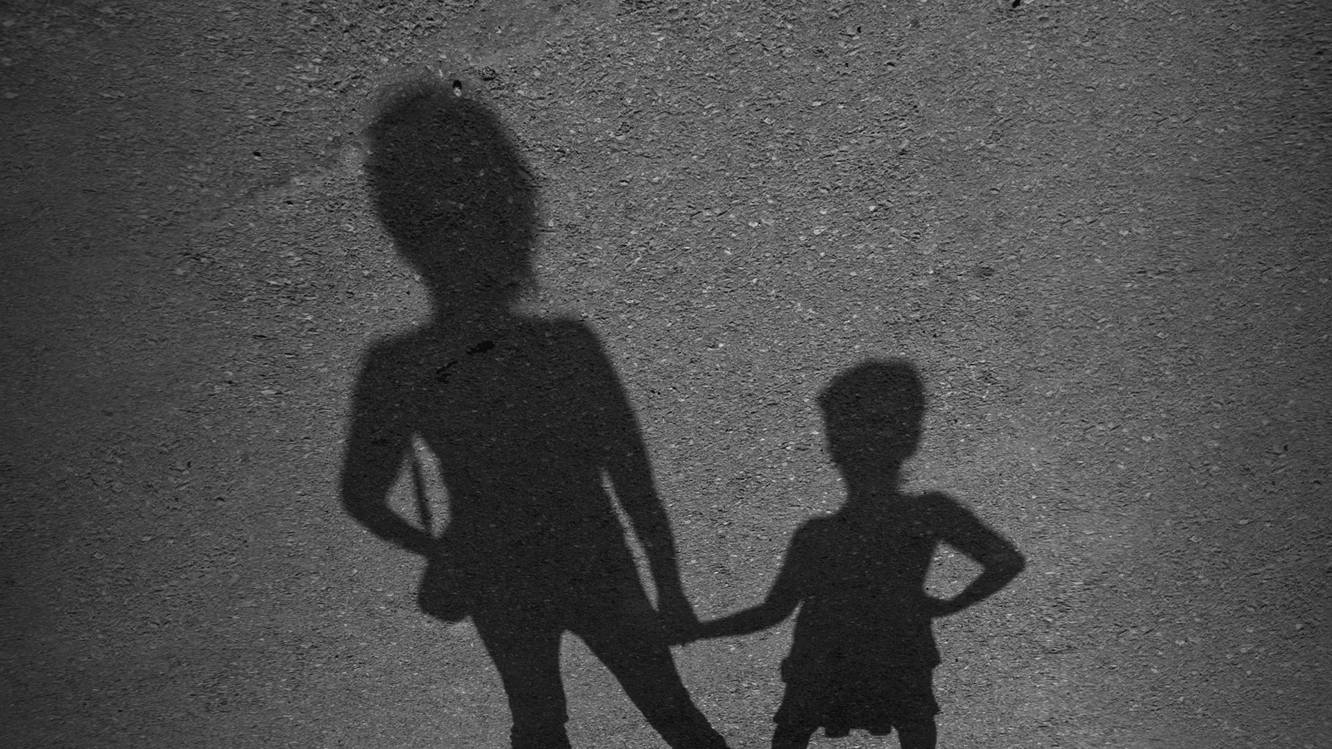 Mother and daughter shadows