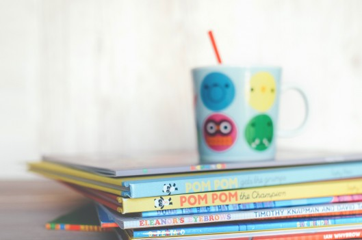 Children's books with a kids mug