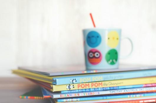 Children's books with a kids mug