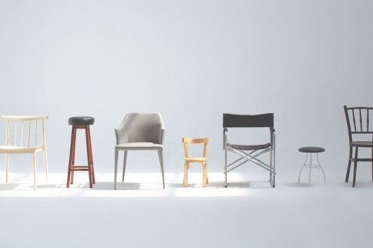 Different chairs lined up