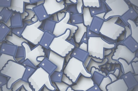 Stack of facebook like icon
