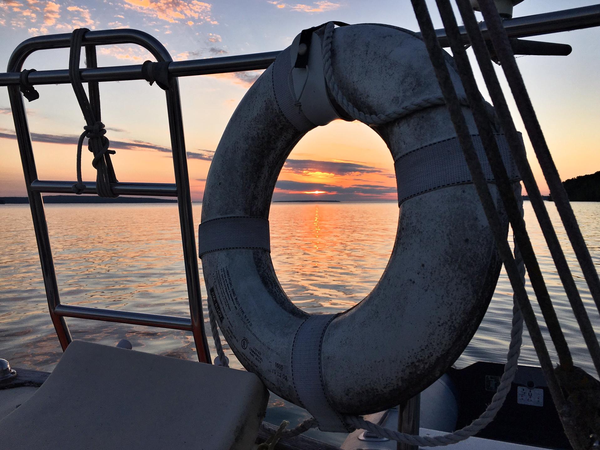 life float sunset | Sailing Lesson | Jennifer Mattern