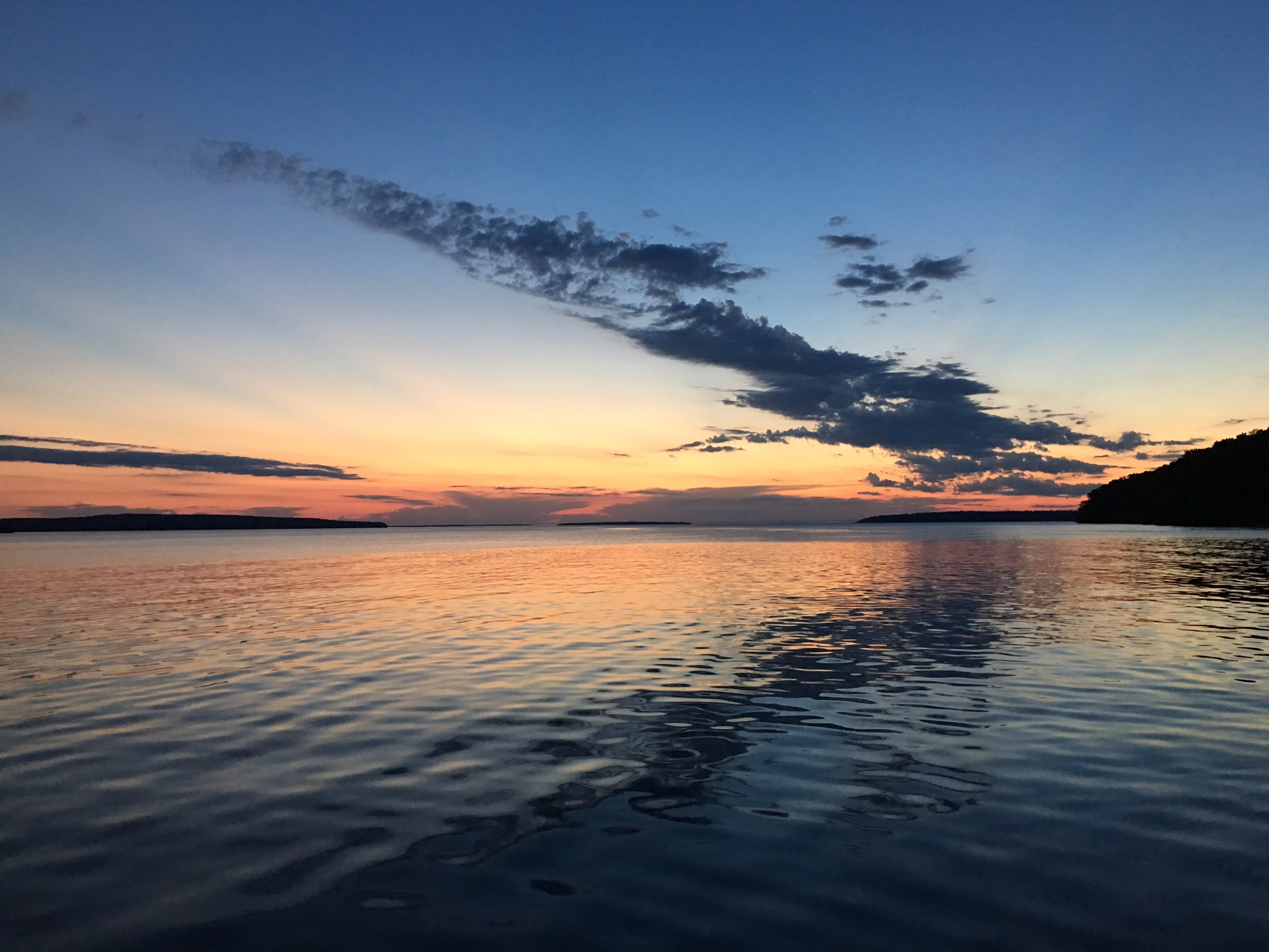 sunset water | Sailing Lesson | Jennifer Mattern