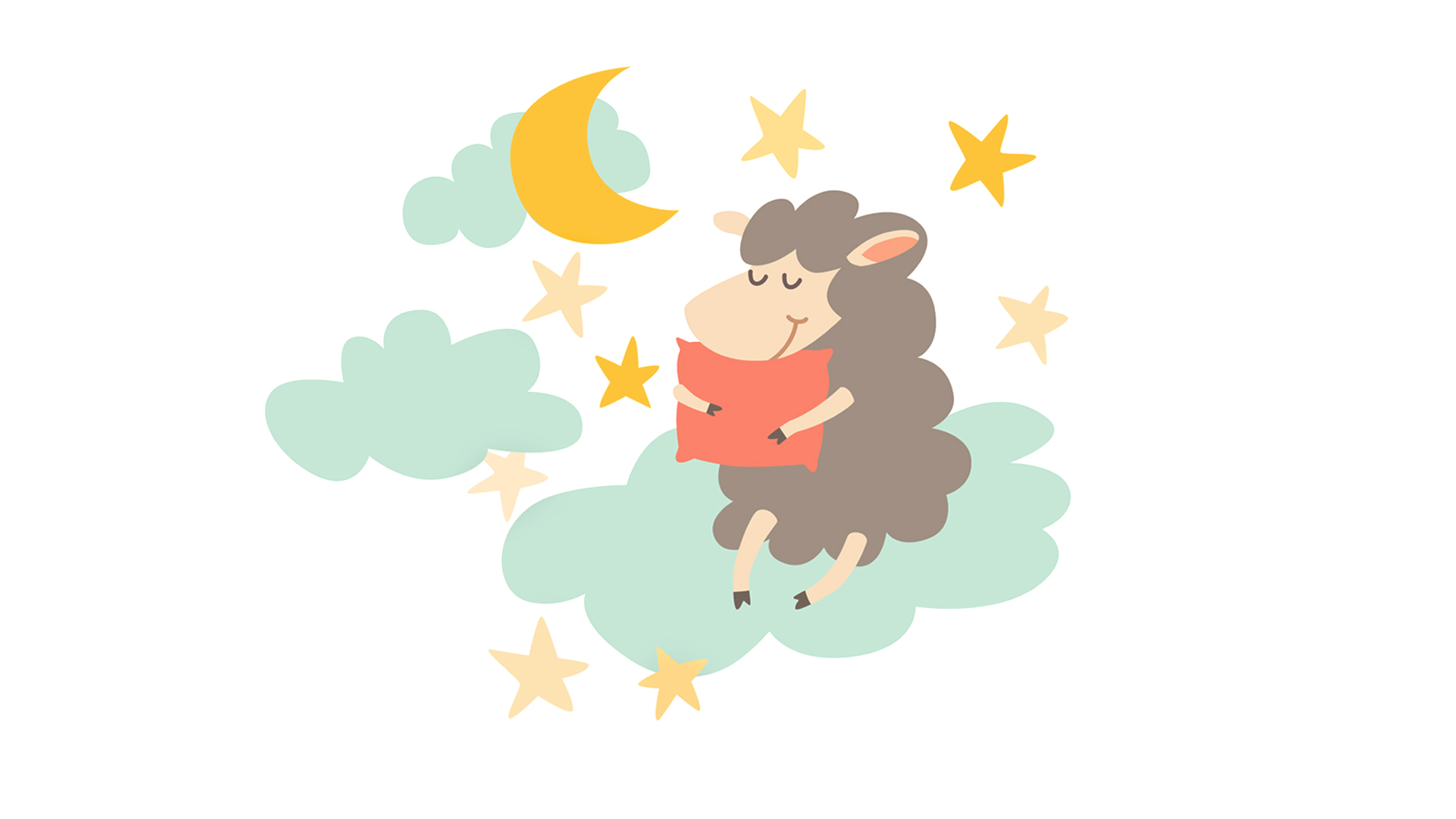 Sleeping sheep with pillow on night sky | How to Create Peaceful Sleep Rituals