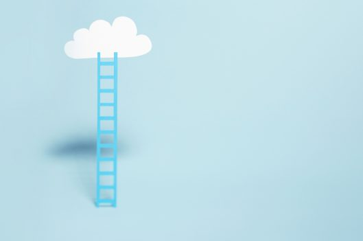 Ladder going up to a cloud