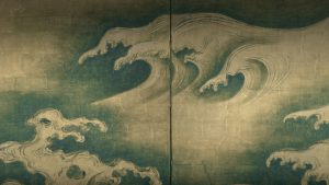 Painting of waves by Ogata Kōrin