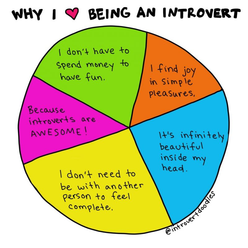 Why I love being an introvert comic