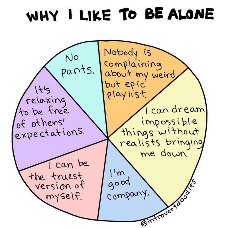 Why I like to be alone comic