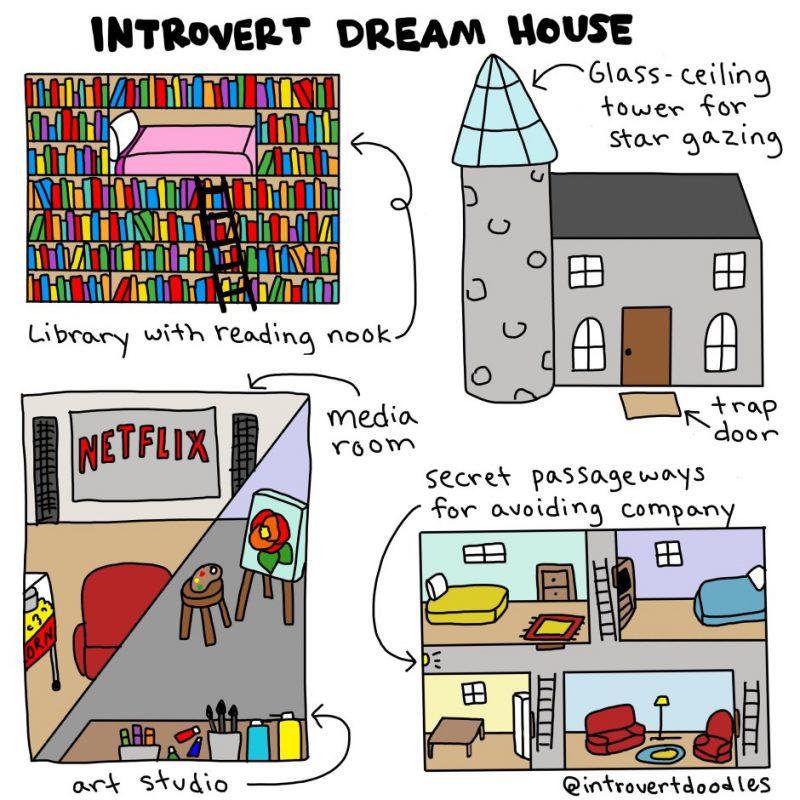 Introvert Dream House comic