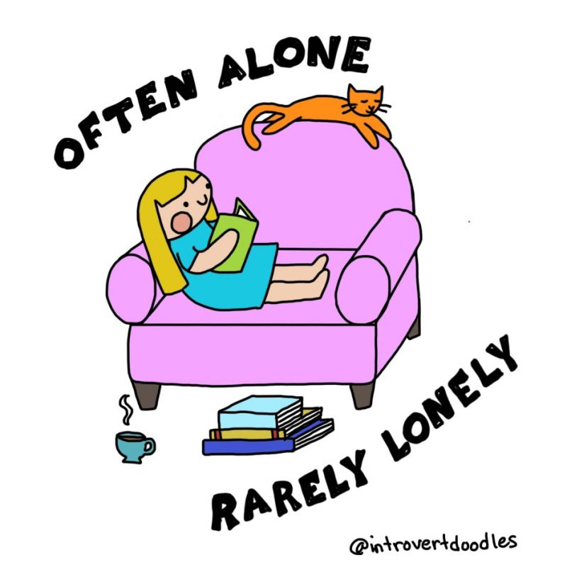 Often alone, rarely lonely comic