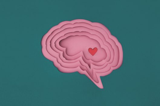 Brain with heart in it