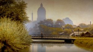 """""""The Canal Morning Effect"""" painting by Richard Buckner Gruelle"""