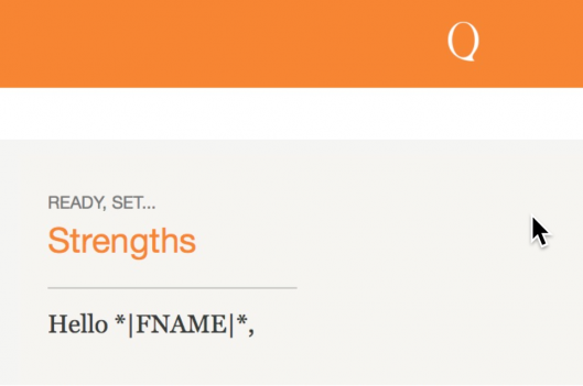 Ready, Set... Strengths email