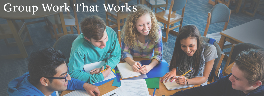 students working at a desk | Group Work That Works