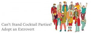 cartoon group of people | Can't Stand Cocktail Parties? Adopt An Extrovert