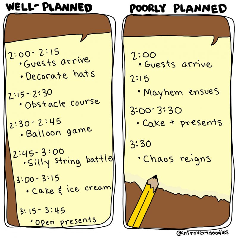 Plan Ahead cartoon