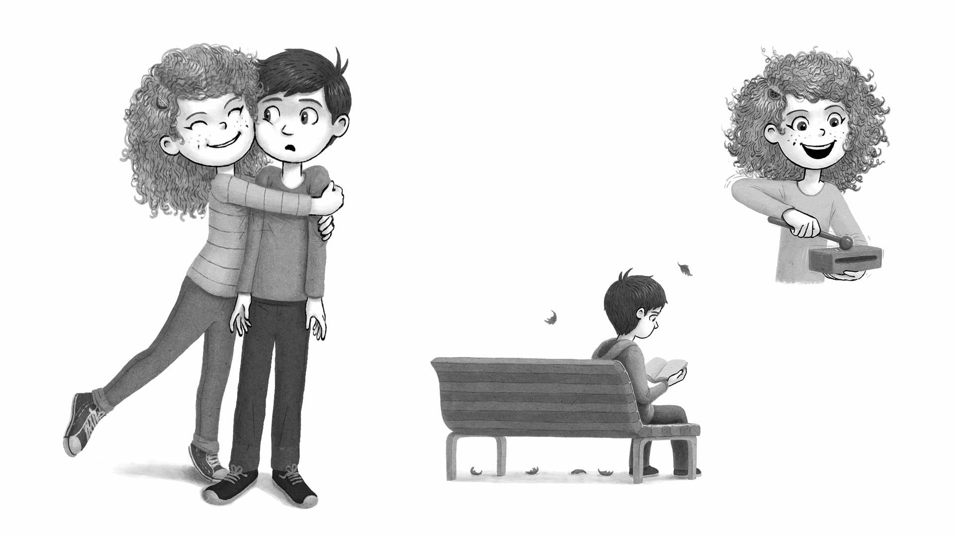 boy and girl cartoon | Quinny & Hopper: Smart Cookies